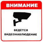 """Знак """"Ведется видеонаблюдение"""" (100х100)"""