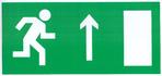 """Знак """"Направление к эвакуационному выходу прямо"""""""