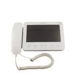 """W-E705FC-W200 белый Kenwei Монитор цветного видеодомофона с трубкой, LCD TFT 7"""", 16:9, PAL/NTSC, автоматическая или ручная запись цветных фотографий или видео на SD карту до 32ГБ"""